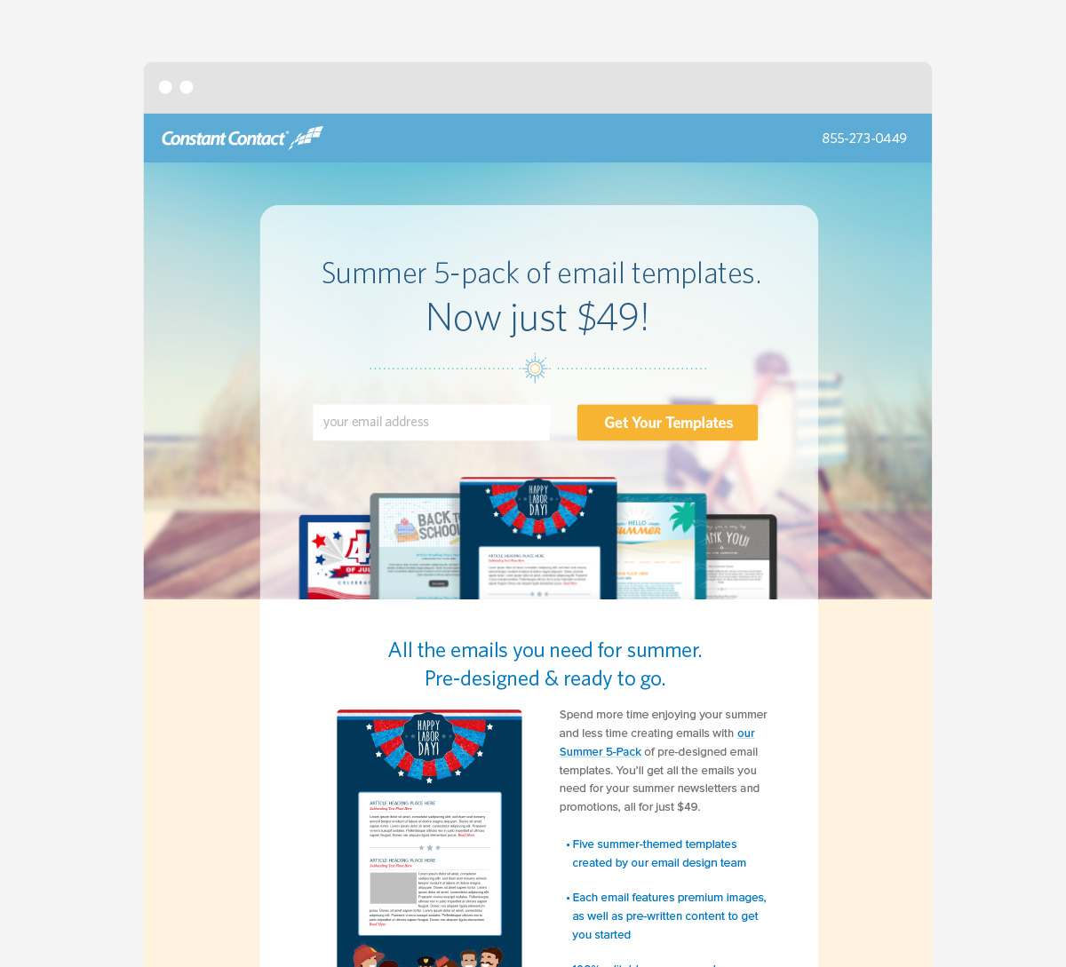 Responsive Email Landing Page Design